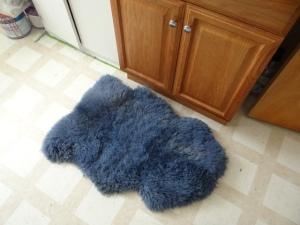 soft blue rug