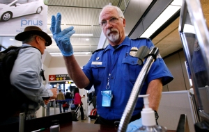 Image: TSA security at the airport in Seattle